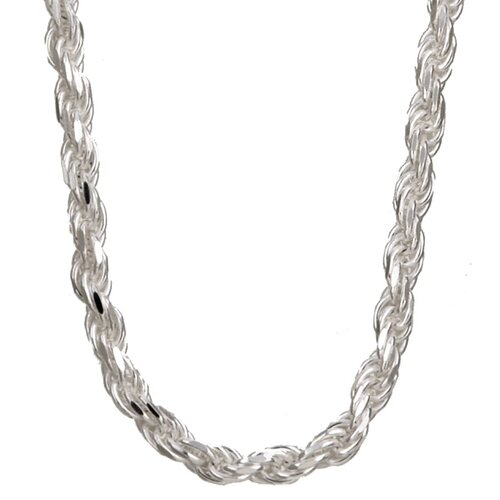 Sterling Essentials Sterling Silver Diamond-Cut Rope Chain
