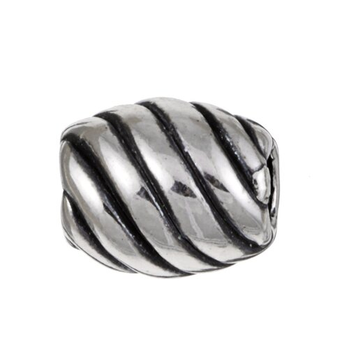Sterling Essentials Signature Moments Sterling Silver Diagonal Bead