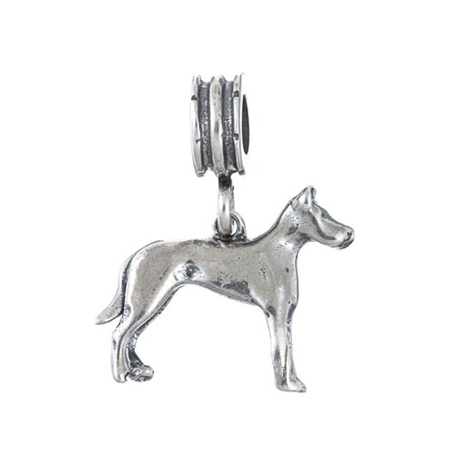 Sterling Essentials Signature Moments 21mm Doberman Dangle Charm