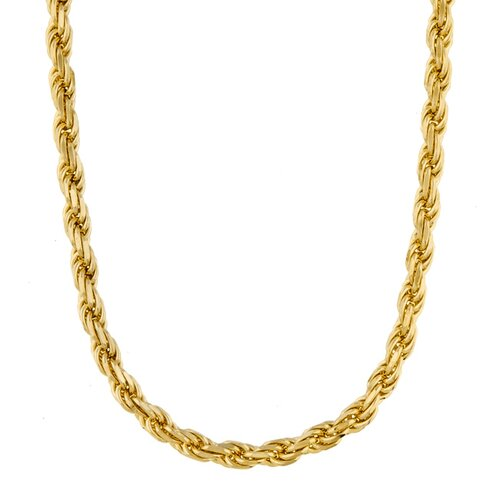 Sterling Essentials 14k Gold over Sterling Silver Rope Chain