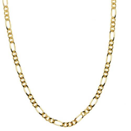 14k Gold over Silver 18 inches Figaro Chain
