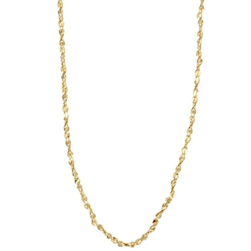 Sterling Essentials 14k Gold over Silver 18 inches Twisted Serpentine Chain