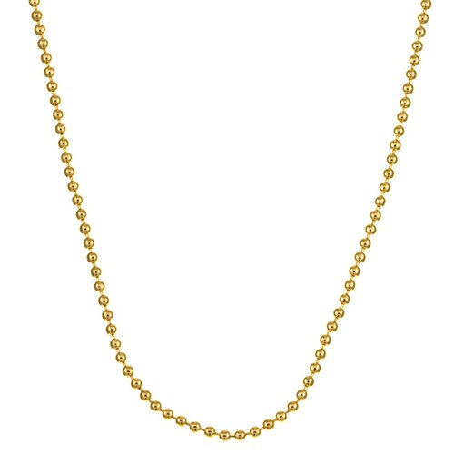 14k Gold over 2mm Silver Ball Chain
