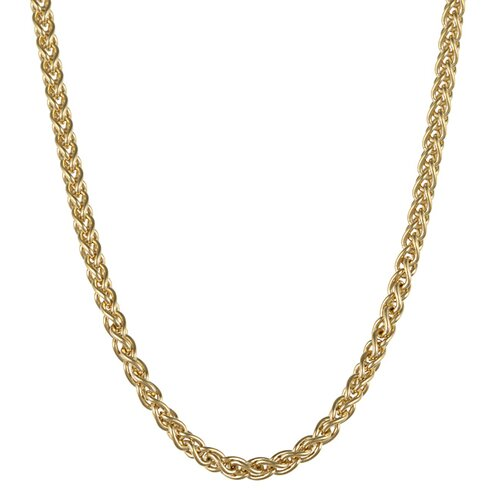 Sterling Essentials 14K Gold over Silver 18 inches Wheat Chain (2.50mm)