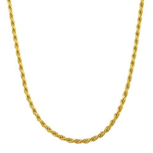Sterling Essentials 14k Gold over Silver Rope Chain (2.5 mm)