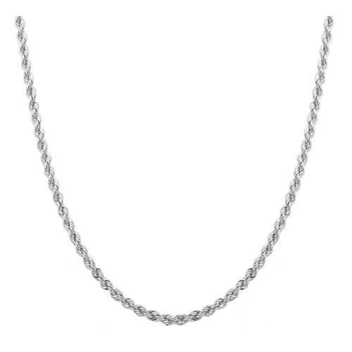 Sterling Essentials Laser Cut Chain Necklace