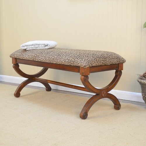 Gracie Leopard Upholstered Bench