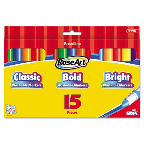 Washable Broadline Markers (15 Pack)