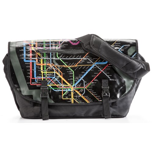 Transit New York City Subway Map Messenger Bag