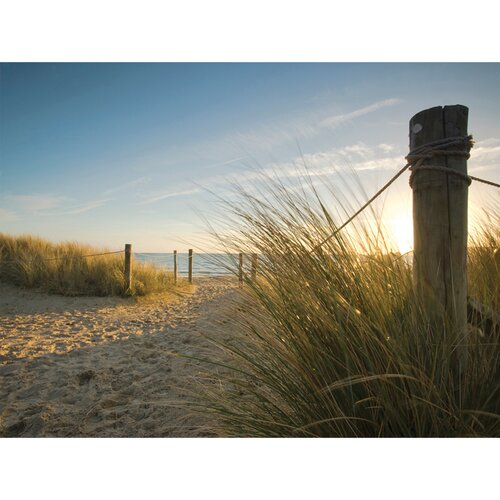Outdoor Beach Walk Photographic Print on Canvas