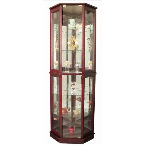 Floor Standing 5 Sided Corner Curio Cabinet