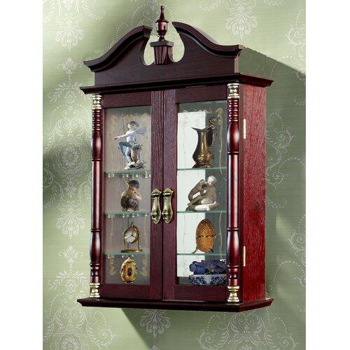 howard miller edmonton wall curio cabinet reviews wayfair. Black Bedroom Furniture Sets. Home Design Ideas