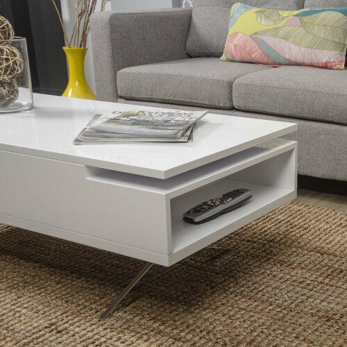 White Lift Top Coffee Tables: Matrix Stelar White Lift-Top Rectangular Coffee Table