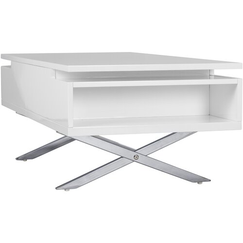 Stelar White Lift Top Rectangular Coffee Table Wayfair