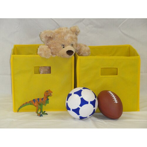 Folding Toy Storage Bins (Set of 2)