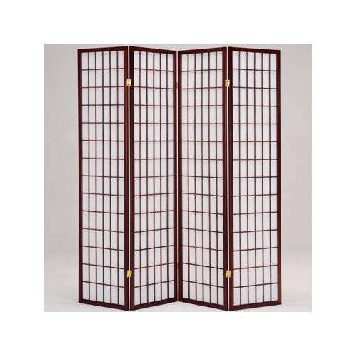 """Hodedah 70"""" x 69"""" 4 Panel Room Divider"""