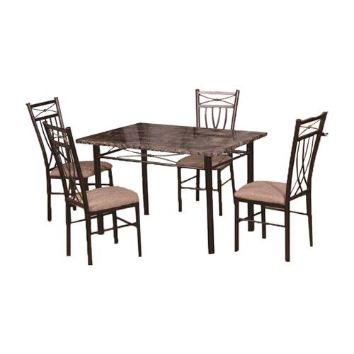 Hodedah 5 Piece Dining Set