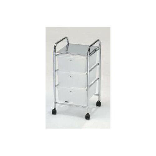 Hodedah 3 Drawer Storage Cart