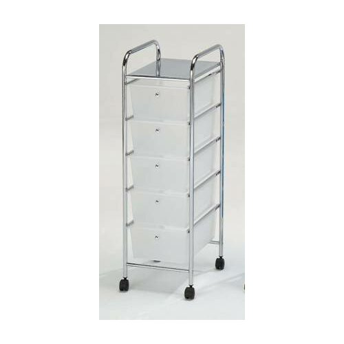 Hodedah 5 Drawer Storage Cart