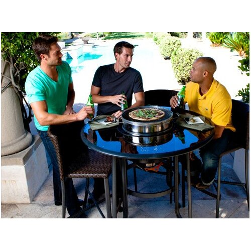 Afire TableQ 5 Piece Bar Set with Firepit