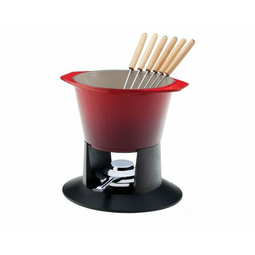 Cast Iron Traditional Fondue Set