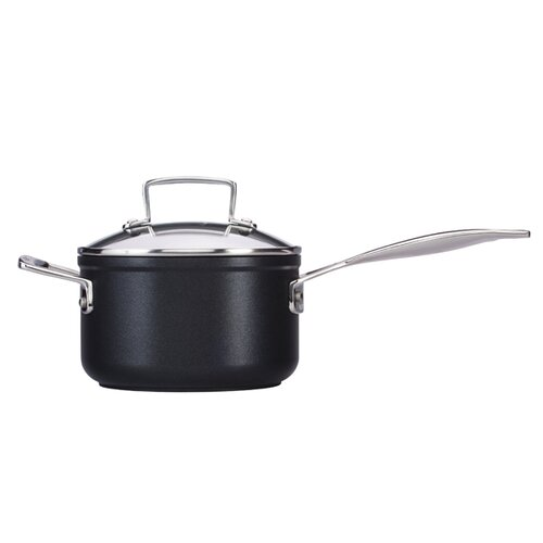 Forged Hard-Anodized Nonstick Saucepan with Lid