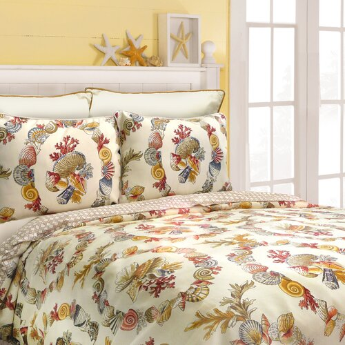 Coral Wreath Comforter Set