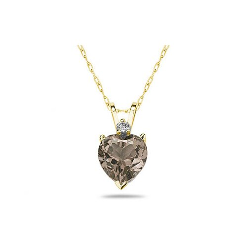 Szul Jewelry Gold Heart Cut Gemstone Stud Pendant