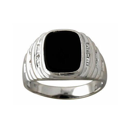 Szul Jewelry Men's Round Cut Onyx Ring