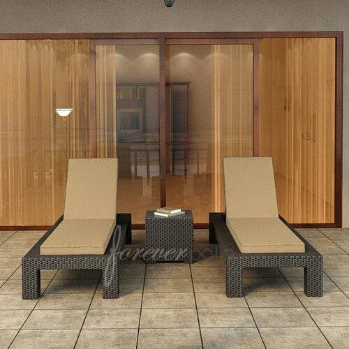 Hampton 3 Piece Lounge Seating Group with Cushion