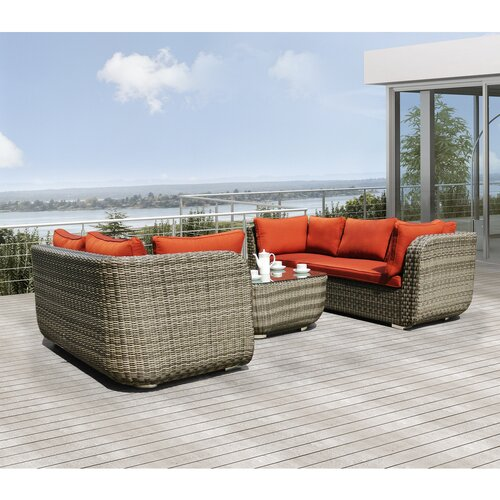 Sirio Salinas 4 Piece Deep Seating Group with Cushion