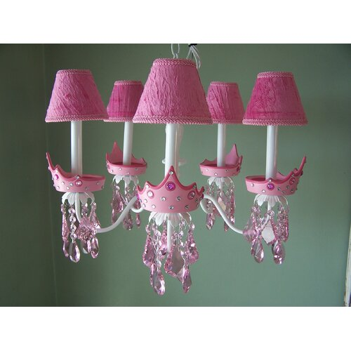 Silly Bear Lighting Glamour Girl Crowns 5 Light Chandelier