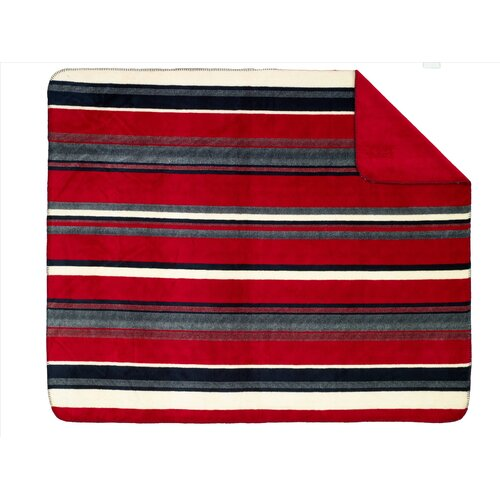 Denali Throws Acrylic Nautical Stripe Double-Sided Throw