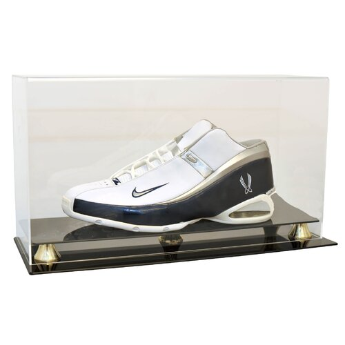 Caseworks International Single Shoe Display Case with Gold Risers