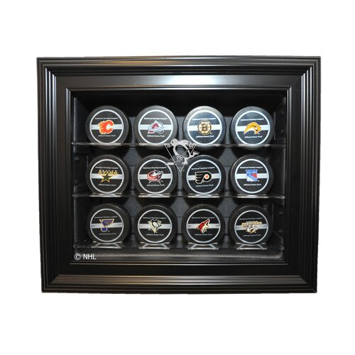 Caseworks International NHL Twelve Puck Cabinet Style Display Case in Black