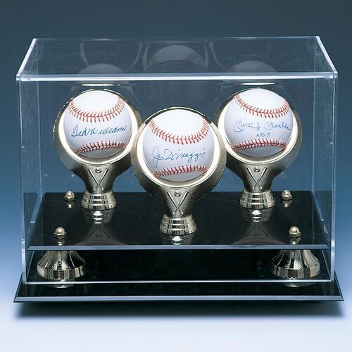 Caseworks International Three Baseball Gold Ring and Risers