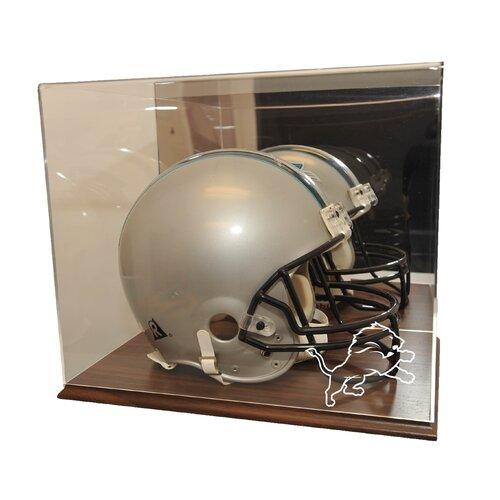 Caseworks International Helmet Display Case in Wood