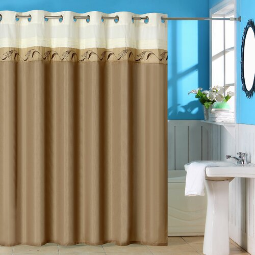 Abilene Polyester Shower Curtain with Grommet