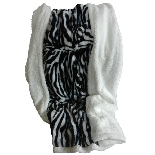 Lavish Home Zebra Polyester Fleece Throw Blanket