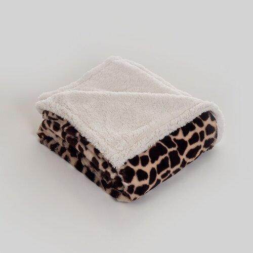 Giraffe Polyester Fleece Throw Blanket
