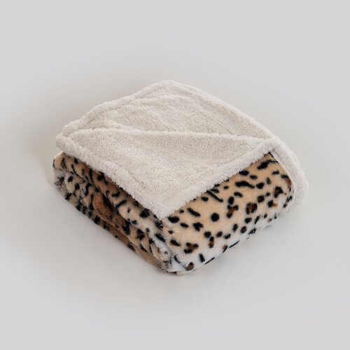 Tiger Polyester Fleece Throw Blanket