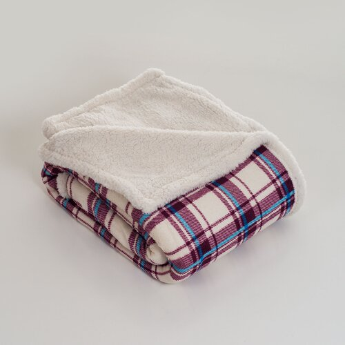 Plaid Polyester Fleece Throw Blanket
