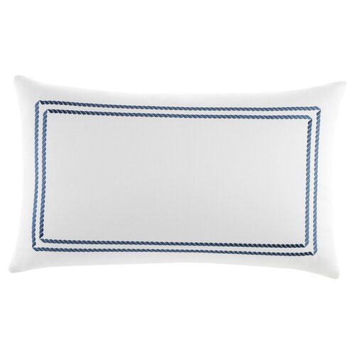 Southern Tide Maritime Frame Embroidered Cotton Decorative Pillow 12x20