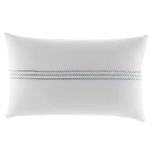 Maritime Rope Embroidered Cotton Decorative Pillow