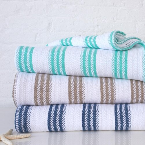 Cabana Stripe Cotton Blanket