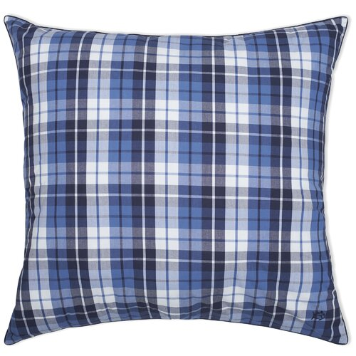Southern Tide Nautical Plaid Yarn Dyed European Square Pillow