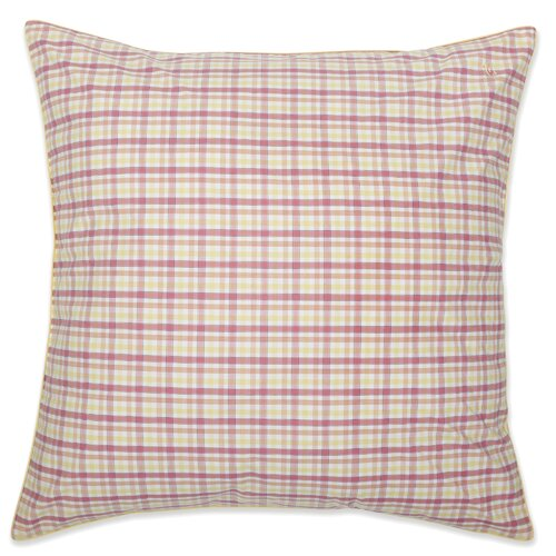 Patio Plaid Yarn Dyed European Square Pillow