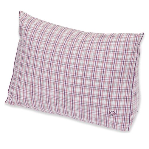 Southern Tide Strawberry Masterplaid Yarn Dyed Wedge Pillow