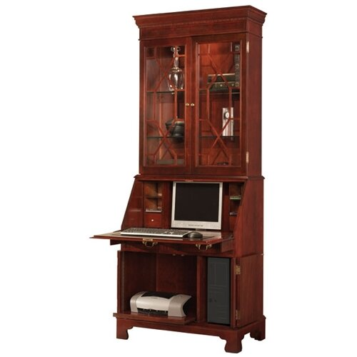 Jasper Cabinet Traditions Painted Computer Secretary with Hutch