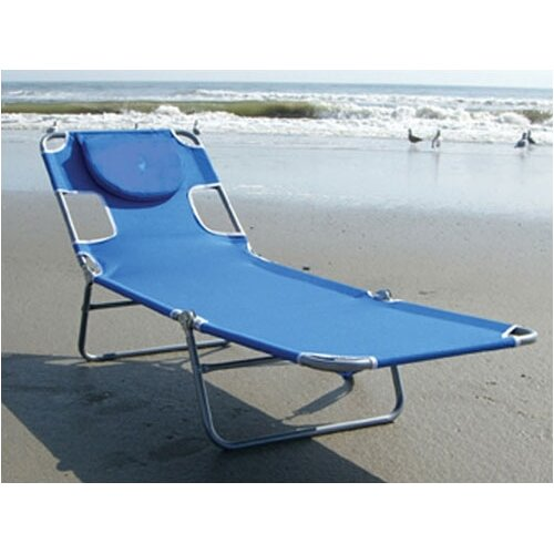 Ostrich chair folding chaise lounge reviews wayfair for Chaise lounge beach